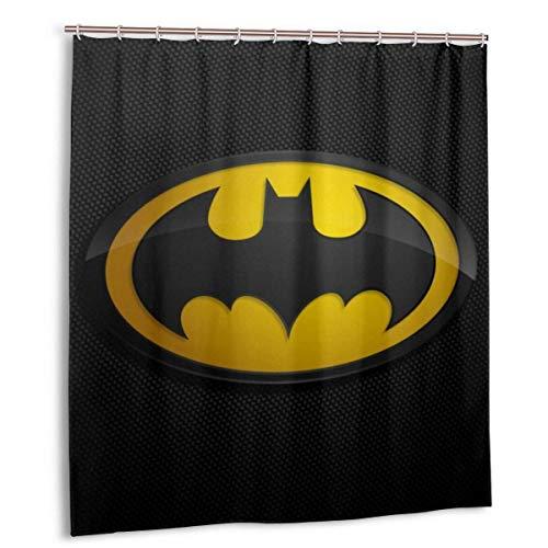 YANPING Bat-Man Duschvorhang DIY Lustig wasserdicht ohne Verformung Qui-Trocknen Badezimmer Duschvorhänge, mit 12 Ptic Haken