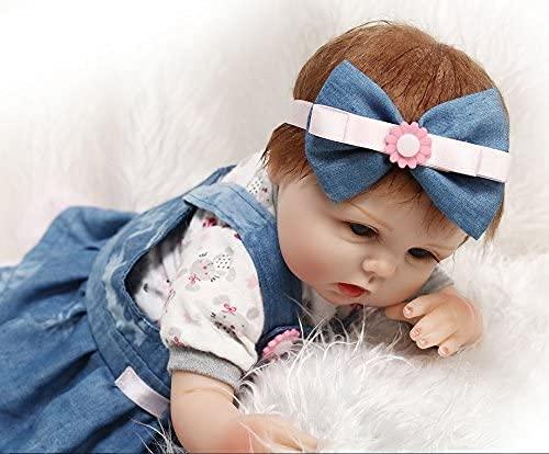 ZIYIUI Reborn Babys 22 Zoll 55 cm Lebensechtes Silikon Vinyl Realistisch Mädchen Spielzeug Geschenk