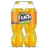 Fanta Naranja - Refresco con 8% de zumo de naranja, bajo en calorías - Pack 2 botellas 2L