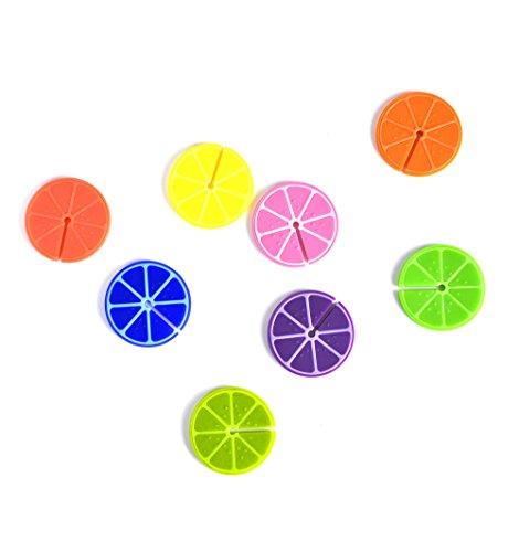 Balvi Marca Copas Fruit Party Set de 8 Unidades Marcacopas o marcavasos Ideal para reuniones, Fiestas y Celebraciones Silicona