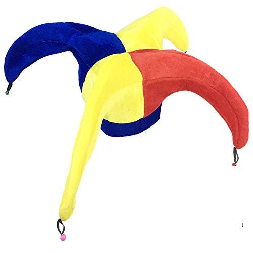 Black Temptation Disfraz de Sombrero de Bufón Sombrero de Bufón Divertido Disfraces de Fiesta de Halloween, Sombrero de Payaso #6