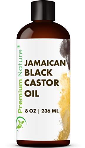 Jamaican Black Castor Oil Hair Growth- Hair Oil Edge Control Hair Growth Products Beard Growth Oil Natural Hair Products Cold Pressed Castor Oil Organic Pure Black Jamaican Castor Oil 8 oz
