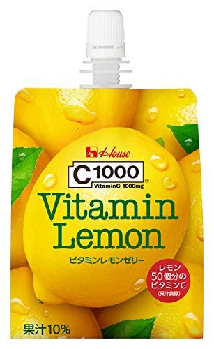 [Amazon限定ブランド] ハウスウェルネスフーズ C1000 ビタミンレモンゼリー With 180g×24袋
