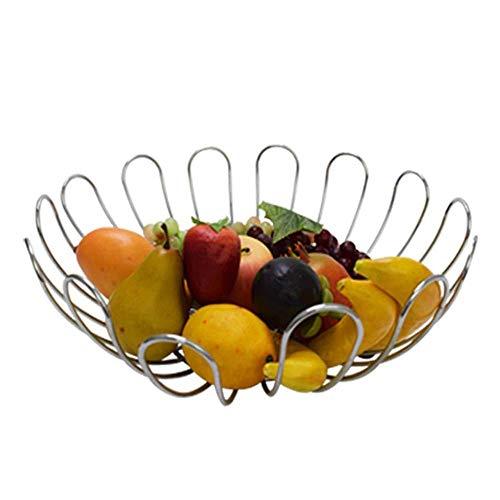 ZTMN Plato de Frutas, Canasta de Frutas de Hierro Forjado Sala de Estar Inicio frutero frutero frutero Canasta de Almacenamiento Caja de Almacenamiento de Dulces
