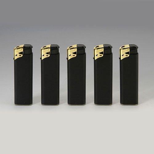 Feuerzeug Einweg Unilite Electronic aus Kunststoff in schwarz gold 50 Stück
