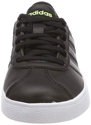 adidas VL Court 2.0 K, Zapatillas de Deporte Unisex Adulto, Multicolor Negbás Gricin Amalre 000, 38 2/3 EU