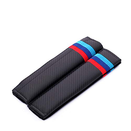 TDPQR 2 Piezas Almohadillas para Cinturón de Seguridad Coche Bordado con Marca de Logo Protectores de Coche Hombro para BMW Mercedes Renault Opel Coche Estilo Interior Accesorios