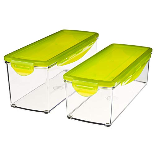 Genius a33501rechteckig Box 3,5l Lime, transparent 2pc (S) Frischhaltedose, Frischhaltedosen (900g, 2PC (S))