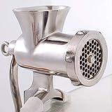 Tritacarne manuale in acciaio inox n. 5 – Tritacarne in acciaio pressofuso 304 | Dimensioni: 22 cm x 27 cm x 8 cm