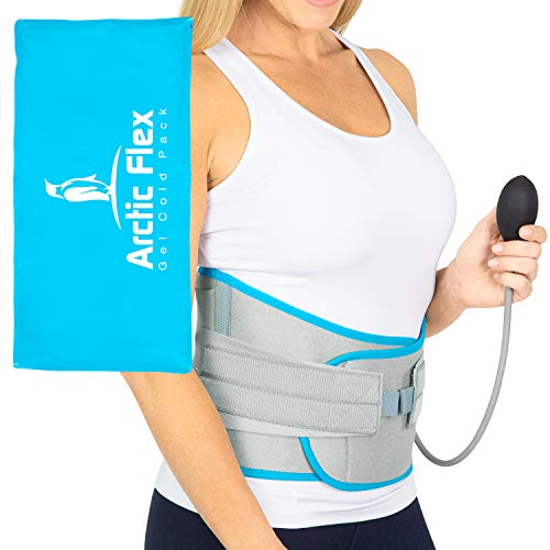 Vive Back Ice Pack Wrap - Compression Gel Brace with Straps for Injuries - Reusable for Cold and Hot Therapy - Coldest, Long Lasting, Refreezeable - Flexible for Sciatica and Lower Nerve Pain Relief