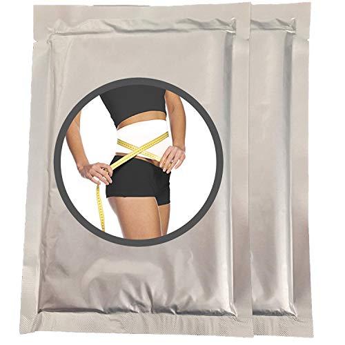 2 Stück Slim Body Wrap - Anwendung für die Straffung der Haut, Umfang reduzieren und Cellulite-Behandlung - Bauchabnehmen