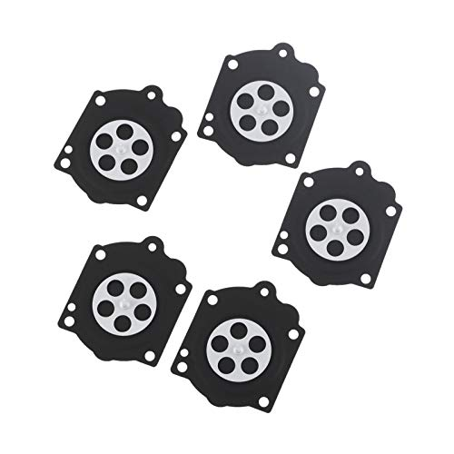 BGTR Motorcycle Accessories 5Pcs Metering Diaphragm Compatible for Walbro HDB WG WB Carburetor Spare Parts Mcculloch Pro Mac 610 650 605 655 and Carb Repair Kit K15-WJ