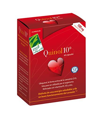 100% Natural Quinol 10 Ubiquinol- Complemento Alimenticio 100 mg - 60 Cápsulas