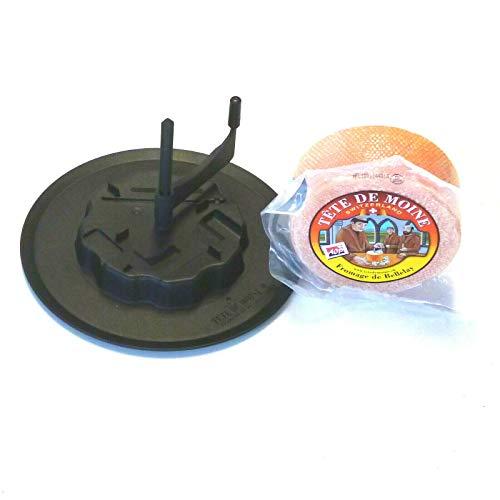 Tete de Moine AOP Käse 420g und Käseschaber Kunststoffkäsehobel