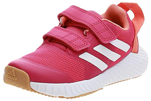 adidas Unisex-Child Fortagym Cf K Indoor Court Shoe, Real Magenta/Cloud White/Semi Coral, 35 EU