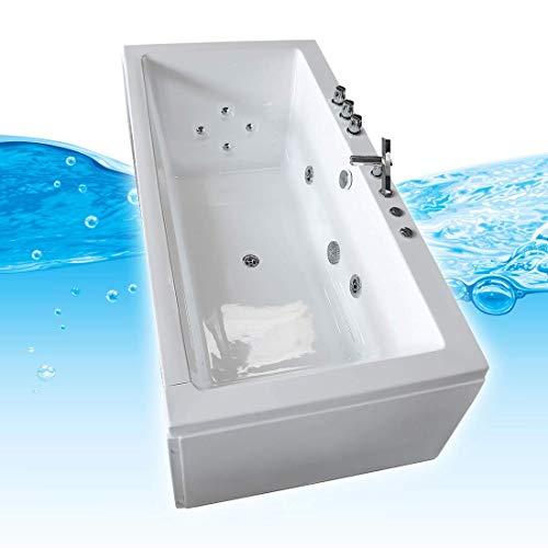 AcquaVapore Whirlpool Pool Badewanne Wanne A1813NC mit Reinigungsfunktion 185x90, Selfclean:ohne +0.-EUR