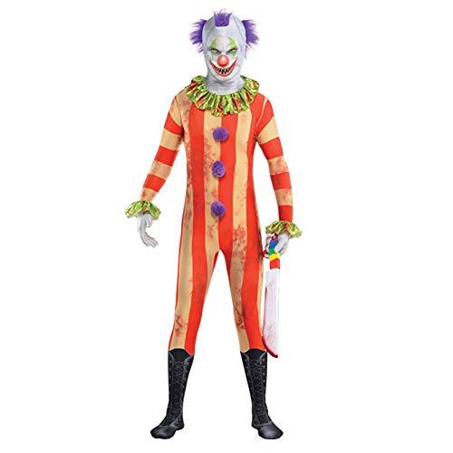 Yummy Bee - Disfraz de Joker para hombre  Disfraz de Payaso Malvado Disfraz Halloween  Talla 46 48 grande