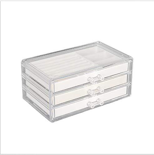 Dapang Schmuck Storage Box Halskette Platte Uhr Storage Box-Ring-Ohrring-Speicher-Armband Lagerung Transparent