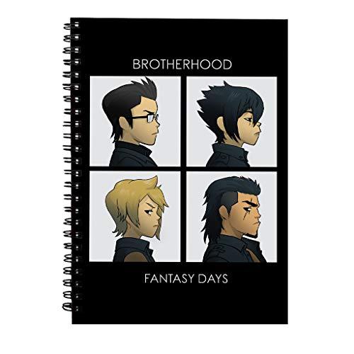 Final Fantasy Brotherhood Days Spiral Notebook