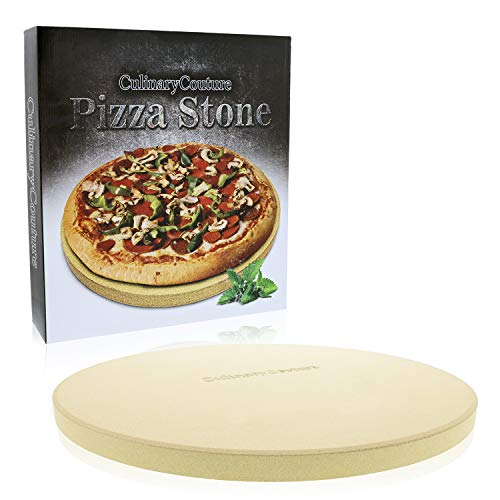 Pizza Stone for Grill and Oven  15 Inch 3/4quot Extra Thick  Cooking amp Baking Stone for Oven and BBQ Grill  With Durable Foam Packaging Gift Box amp Pizza Recipes EBook