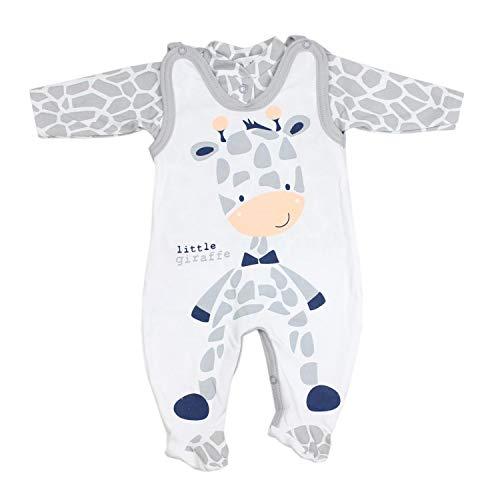 TupTam Baby Unisex Strampler-Set mit Aufdruck Spruch 2-TLG, Farbe: Giraffe, Größe: 62