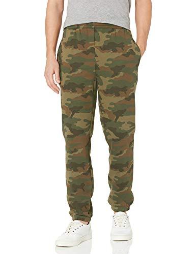 Amazon Essentials Closed Bottom Fleece Pant Pantalones, verde camuflaje, M