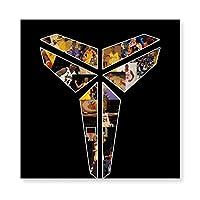い バスケットボール 選手 コービー 背番号 24 Kobe 木製 額縁 フォトフレーム 壁掛け 木製 横縦兼用 絵を含む 40×40cm