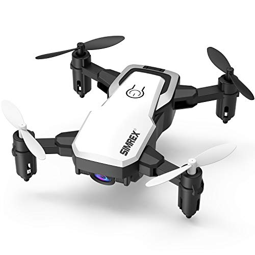 SIMREX X300C Mini Drone with Camera WiFi HD FPV Foldable RC Quadcopter Rtf 4CH 2.4Ghz Remote Control Headless [Altitude Hold] Super Easy Fly for Training, White