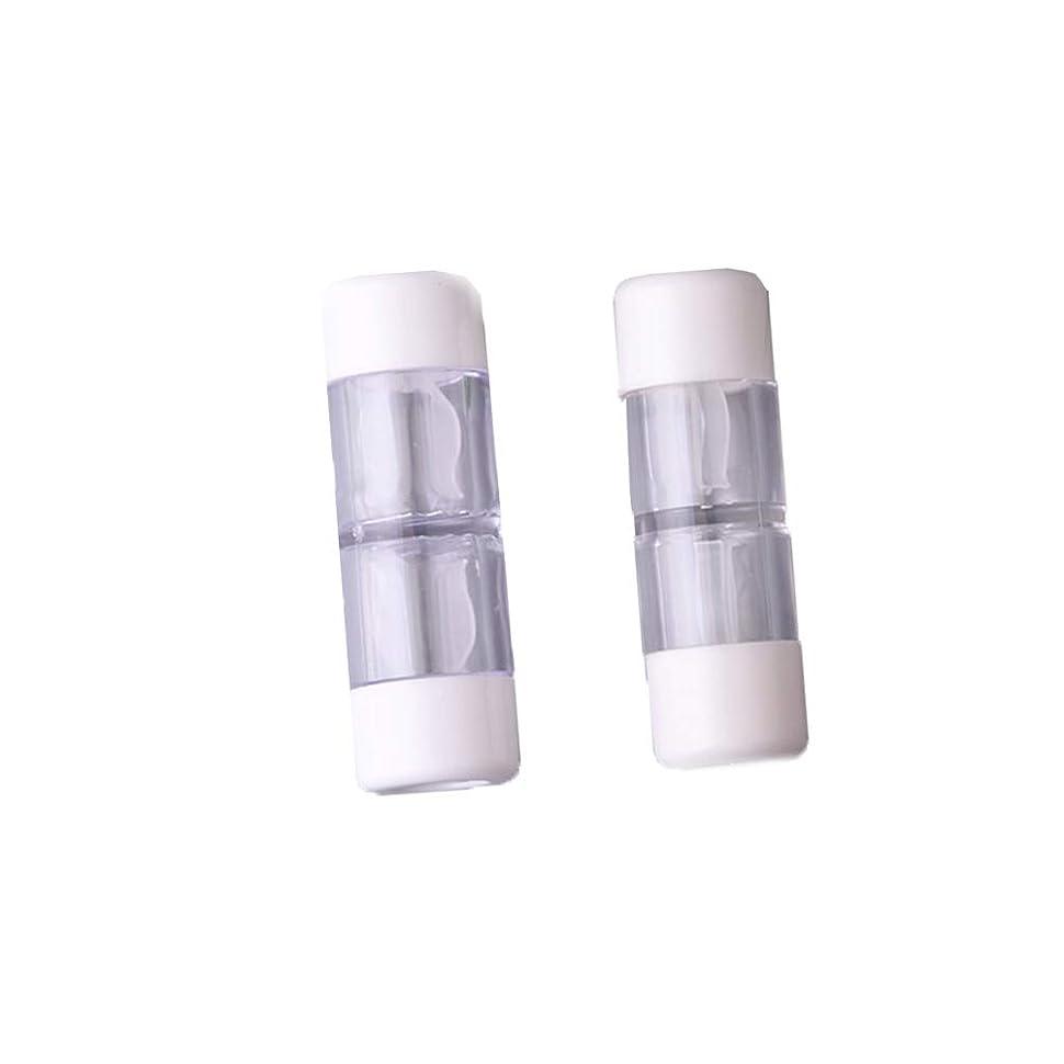 書き込み特徴づけるクアッガHeallily コンタクトレンズケース1セットコンタクトレンズケースボックス収納ジャーツール瓶とピンセット付き(5ペアRGPミックスカラー)