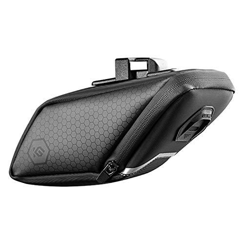 Minear Bolsa para sillín de bicicleta de montaña, bolsa para bicicleta con diseño de luz reflectante, bolsa impermeable para accesorios de bicicleta