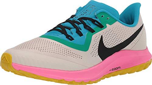 Nike Air Zoom Pegasus 36 Trail Men's Running Shoe LT Orewood BRN/Black-Pink Blast Size 10.0