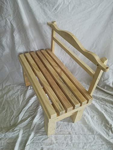 LA IBERICA Panca per bambini, in legno massiccio, lunghezza 70 cm.