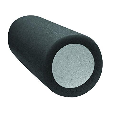 """Cando Premium 2-Layer Foam Roller, Round, 6"""" X 30"""", Black: X-Firm,30-2394"""