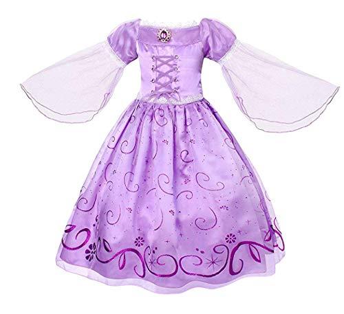 Samsonuk raperonzolo aurora costume vestito principessa ragazze alla festa di compleanno di cosplay vestiti