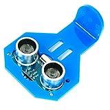 Paradisetronic.com Sensor ultrasónico HC-SR04 con soporte, medición de distancia hasta 3 m, p. Ej. Arduino, Raspberry Pi
