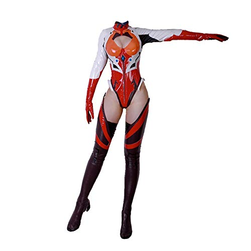 The cos wolrd Anime EVA Evangelion Figure Soryu Asuka Cosplay Costume ver Langley Driving Suit Uniform Sexy PU Suit New (Clothing,S)