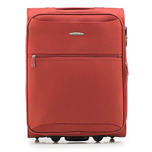 WITTCHEN Koffer – Handgepäck | Textil, Material: Polyester | hochwertiger und Stabiler | Braun | 45 L | 55x40x23 cm