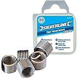 Silverline 481932 - Roscas Helicoil (M10 x 1,5 mm, 25 pzas)