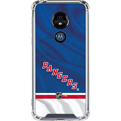 Skinit Clear Phone Case for Moto G7 Power - Officially Licensed NHL New York Rangers Home Jersey Design