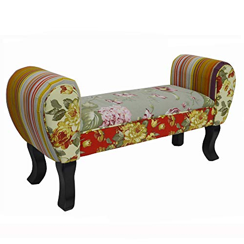 WATSONS ROSES - Shabby Chic chaise longue pouf tabouret