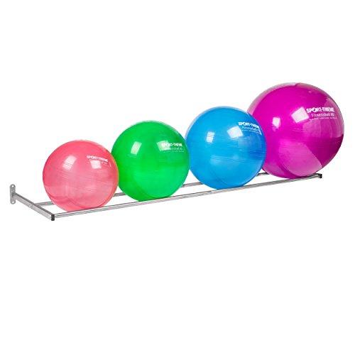 Sport-Thieme Gymnastikball-Wandablage Classik | Für Beton- und andere Wände | Ständer/Wandhalter für Gymnastikbälle | Bis zu 5 Bälle | Stahlrohr-Ausführung | Markenqualität