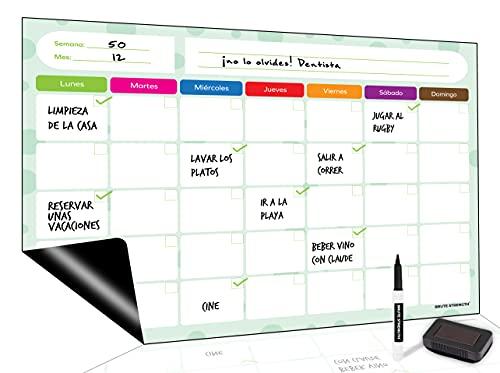 Pizarra Magnética Planificador Semanal – A3 – Planificador Familiar - Planificador