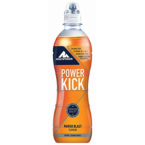 Multipower Power Kick Energy Getränk, Mango Blast (12 x 500 ml)