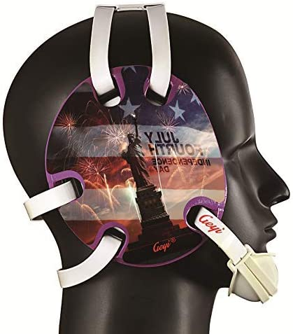 Geyi Popular products Wrestling Headgear with American Statue Liberty Bombing new work Decals of 3