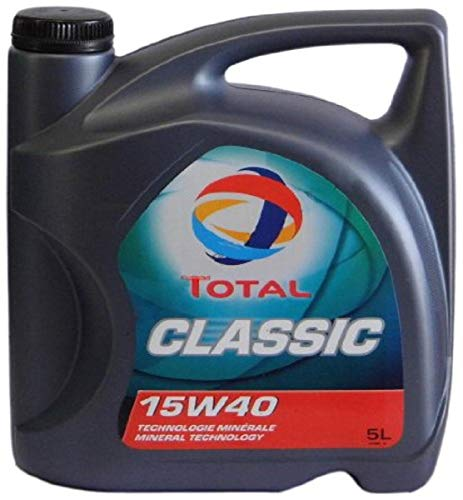 Total t156359 Classic 15W-40 Aceites de Motor para Coches, 5