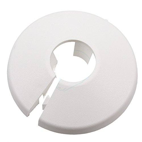 TALON PC22/10collar para tubería, Color blanco, 22mm, set de 10piezas