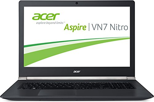 Acer Aspire V 17 Nitro (VN7-791G-584H) 43,9 cm (17,3 Zoll Full HD) Laptop (Intel Core i5-4210H, 8GB RAM, 508GB SSHD, NVIDIA GeForce 940M, DVD, Win 10 Home) schwarz