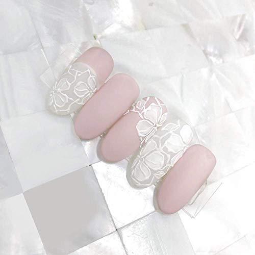 Nouveautés Princesse Style Rose Pure Couleur Dentelle Motif Faux Ongles avec Motifs Belle Mariage Décoré Plein Ongles