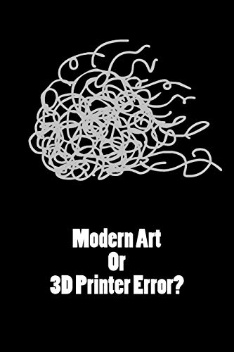 Gift Notebook For 3D Printer, Blank Ruled Journal   Modern Art Or 3D Printer Error: Medium Spacing Between Lines