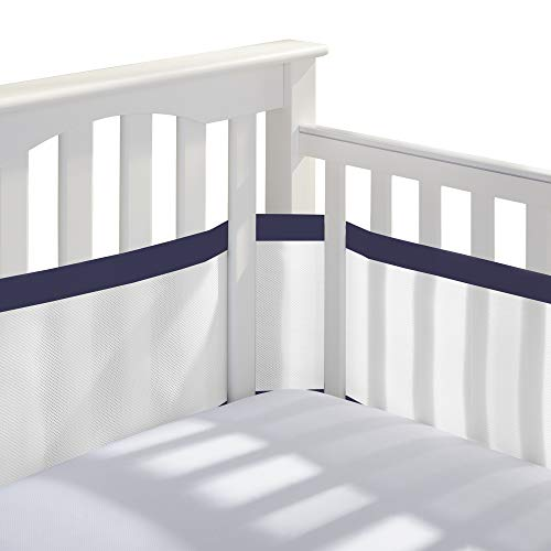 Best crib bumper breathable blue for 2020